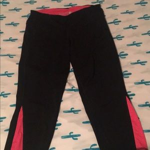 High Waisted Cropped Yoga Leggings